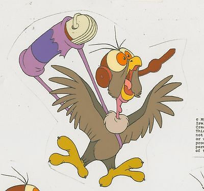 1991 DON BLUTH Rock a Doodle HUNCH Animation Production Model Cel