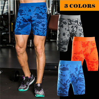 Mens Leggings Tight Pants Sports Fitness Pants Compression Slim Gym Sports Wears