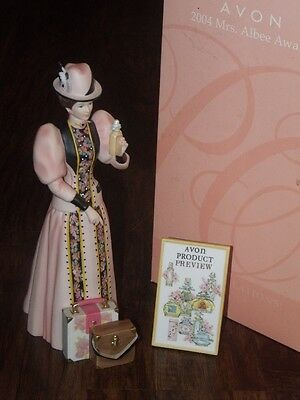 2004 Avon Mrs Albee Porcelain Victorian Lady Girl Full Size Figurine Homco Style