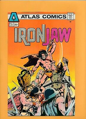 Atlas Iron Jaw # 1 Solid NM 9.4 Adams cover