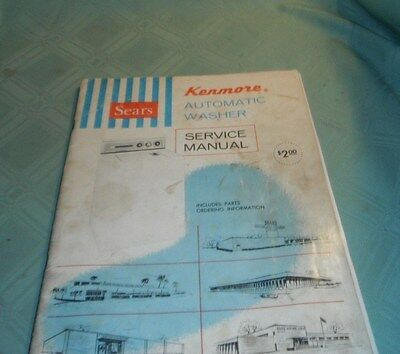 Sears Kenmore Automatic Washer Service Manual C.1970/parts List Manual 1968