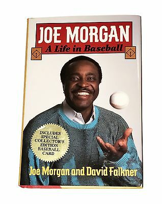 Joe Morgan Hand Signed Autographed Book A Life In Baseball With Coa Very Rare