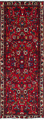 "Hand-knotted Persian Carpet 2'11"" x 8'2"" Persian Traditional Red Wool Rug Runner"
