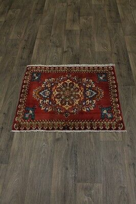 Lovely Handmade Small Size S Antique Kashan Persian Area Rug Oriental Carpet 2X3