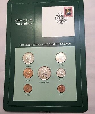 Seven Coin Set Uncirculated Kingdom Of Jordan Coins Of All Nations