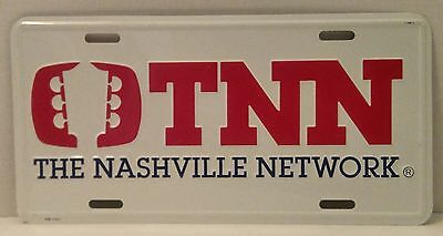 TNN LICENSE PLATE The Nashville Network COUNTRY Guitar Head TV Grand Ole Opry