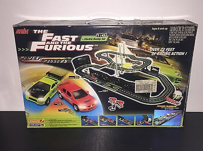 The Fast And The Furious RARE ARTIN Power Passers 1:43 Scale Electric Racing Set