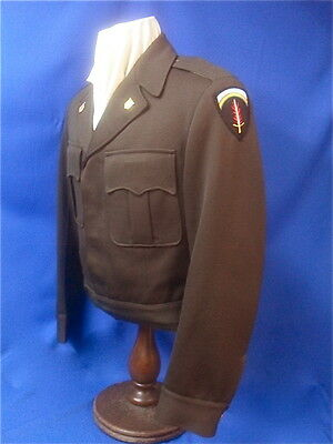 WWII US Army Officer's Chocolate Brown 'Ike' Jacket, SHAEF Intelligence Officer