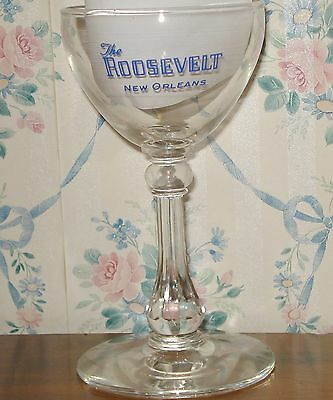 ROOSEVELT HOTEL BAR GLASS New Orleans Martini Cordial La