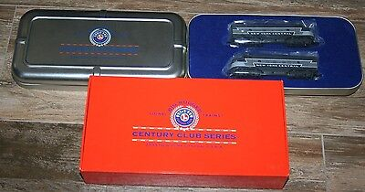 1999 Lionel Century Club 2333 NY Central F3 A-A Locomotives in tin 1:120 Mint