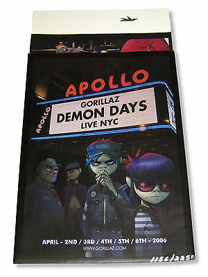 Gorillaz Demon Days Live 2006 Apollo Program Poster New Official Rare