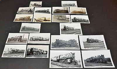 Lot of 20 Pennsylvania Railroad B&W Vintage Photos Set A
