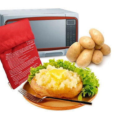 Potato Express Washable Cooker Fast Microwave Baked Potato Cooking Bag