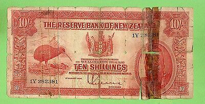 #d304. 1934-1940  New Zealand Maori  Ten Shilling Banknote, 1Y 282382
