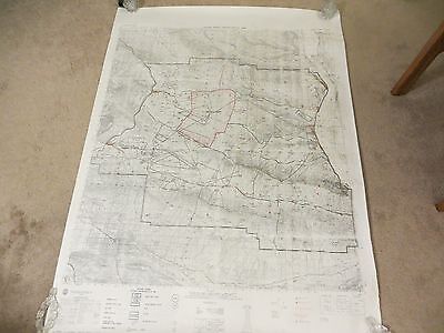 1985 Defense Mapping Agency Military Legend Yakima Firing Center Special Map