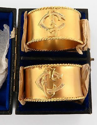 Solid 15Ct Gold Extremely Rare / Historically Important / Antique Napkin Rings.
