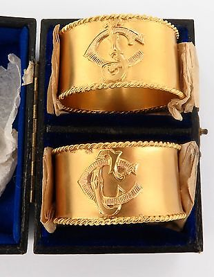 .solid 15Ct Gold Extremely Rare / Historically Important / Antique Napkin Rings.