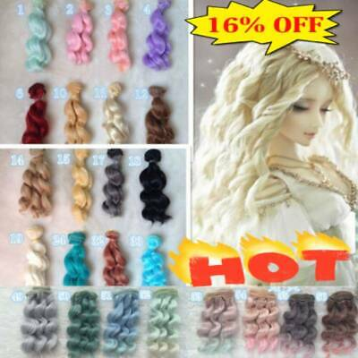 15cm Long DIY Doll Wig High-temperature Wire for 1/3 1/4 1/6 BJD SD Curly Hair