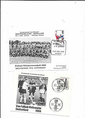 2 x 1966 World Cup Final Germany v England 1st Day Covers (German Issue)