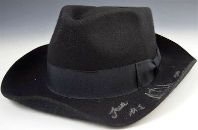 Michael Jackson Owned And Worn And Signed Fedora Hat
