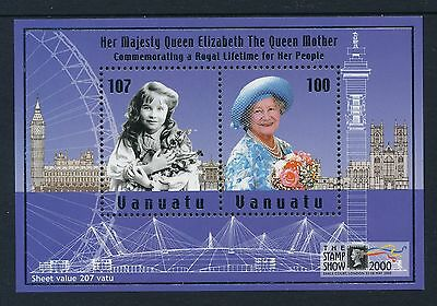 2000 Vanuatu Queen Mother/london Stamp Show Minisheet Fine Mint Mnh/muh