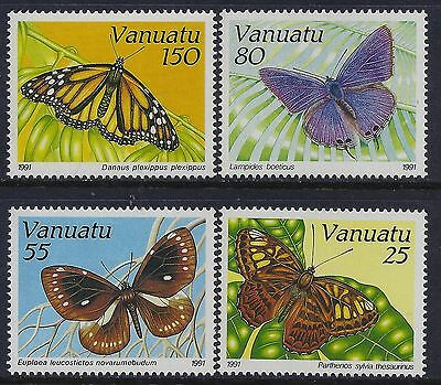 1991 Vanuatu Butterflies Part Ii Set Of 4 Fine Mint Mnh/muh