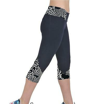 2017 Womens Yoga Running Sport Pants High Waist Leggings Gym Fitness Trousers M#