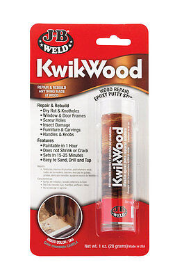 J-B Weld  KwikWood  Tan  Epoxy Putty Stick  1 oz.