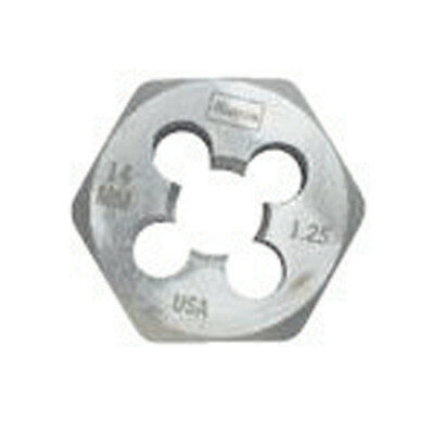 Irwin  Hanson  High Carbon Steel  14mm-1.50  Metric  Hexagon Die  1 pc.