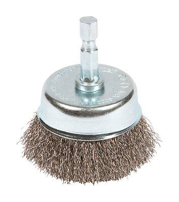 Forney  2 in. Dia. x 1/4 in.  Fine  Crimped Wire Cup Brush  1 pc. Steel