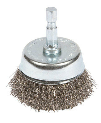 Forney  1/4 in.  x 2 in. Dia. Coarse  Crimped Wire Cup Brush  1 pc. Steel
