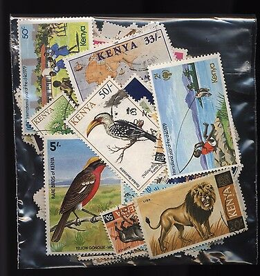 Kenya Bag 130 Stamps Mostly Used