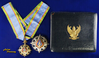 2000 Thailand Medal Knight Commander Noble Order Of Crown Gentleman With Box