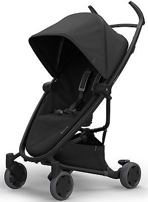 Quinny Zapp Flex Two Way Recling Seat Single Baby Stroller 2017 Black on Black