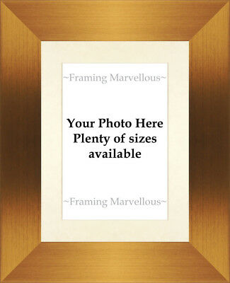 Brushed Bronze Effect Photo Picture Frame with Ivory Mount - Choose size