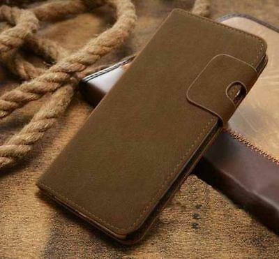 Magnetic Olive Magnetic Flip Wallet Swede Leather Case For Iphone 6 PLUS {AX251
