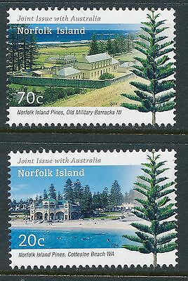 2014 Norfolk Island Joint Issue With Australia Set Of 2 Fine Mint Mnh/muh