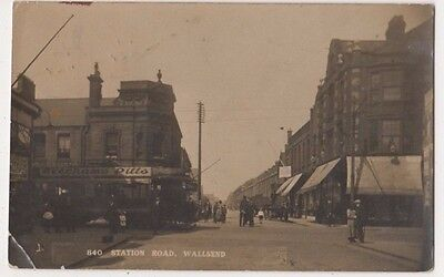 Station Road Wallsend, Northumberland 1921 RP Postcard B750