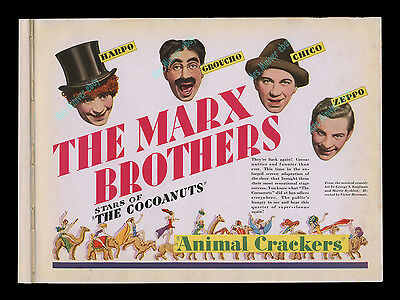 4 MARX BROTHERS Animal Crackers - PRE-RELEASE MOVIE POSTER PARAMOUNT STUDIO BOOK
