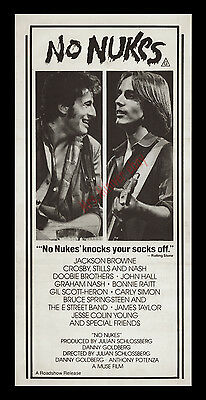 No Nukes ☆ Original1980 Movie Poster ☆ Bruce Springsteen At His Best ☆ Must See!