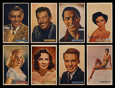 1-Of-A-Kind 1950 Mgm Set Of 8 Portrait 1-Sheets Made For Special Studio Display!