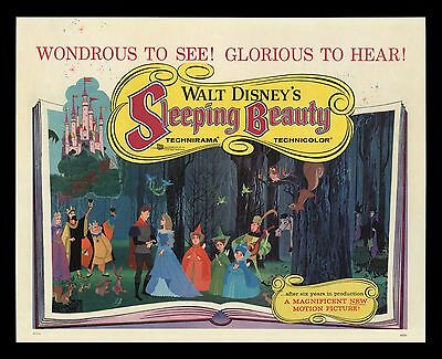 SLEEPING BEAUTY '59 ROLLED ☆ RARE STYLE 22x28 Movie Poster MUSEUM LINEN-MOUNTED!