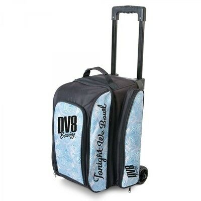 DV8 Bowling bag Freestyle 2 Ball Scooter Blue Swirl Double Roller