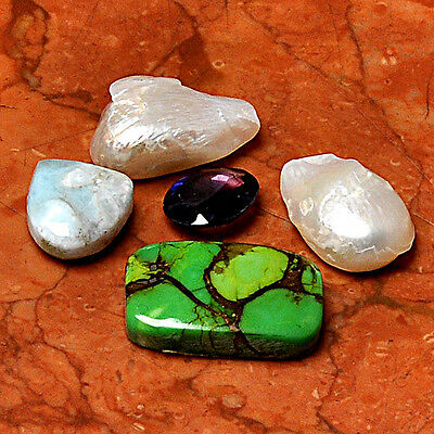 Wholesale Lot 5 Pcs Biwa Pearl Gemstone Cabochon Loose  AUK88