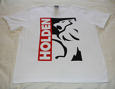 Holden Mens Logo White Printed Short Sleeve Cotton T Shirt Size 3XL New