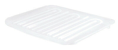 Rubbermaid  18 in. W x 14.7 in. D x 1.3 in. H Plastic  Dish Drainer Tray  Clear
