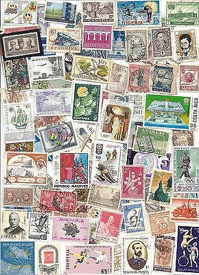 75 Different cancelled Worldwide  Stamps 6/17A