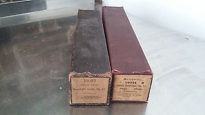 2 Vintage Pianola Rolls Beethoven Classical music