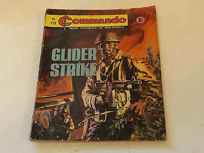 Commando War Comic Number 218,1966 Issue,good For Age,51 Years Old,very Rare.