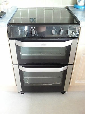 Electric Belling Double Oven with Ceramic Hob Immaculate